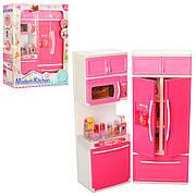 Кухня для Барбі з холодильником QF26212-3-4PW - звук, світло