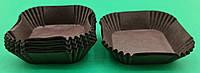 """Тартолетка для кексов""""Квадратная коричневая""""(58,5*58,5*21,5) (100шт)/К-58,5/ (1 уп.), фото 1"""