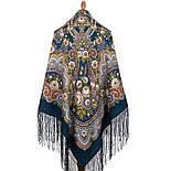 Посадский 874-14, павлопосадский платок (шаль) из уплотненной шерсти с шелковой вязаной бахромой, фото 7