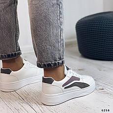 Кросівки жіночі білі з еко шкіри. Кросівки жіночі білі, фото 3