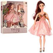 """Кукла M 4389 """"Эмилия""""  шарнирная- 30 см, ключ, обувь, сумочка, растение"""