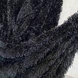 Покрывало травка   Пушистый махровый плед. С длинным ворсом. 220х240см. Цвет Черный, фото 2