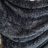 Покрывало травка   Пушистый махровый плед. С длинным ворсом. 220х240см. Цвет Черный, фото 3