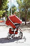 Прогулочная коляска CARRELLO Vista CRL-8505 во льне, Ruby Red, фото 4