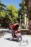 Прогулочная коляска CARRELLO Vista CRL-8505 во льне, Ruby Red, фото 10