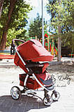 Прогулочная коляска CARRELLO Vista CRL-8505 во льне, Ruby Red, фото 5