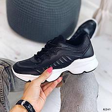 Кросівки жіночі чорні з еко шкіри. Кросівки жіночі білі, фото 3