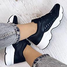 Кросівки жіночі чорні з еко шкіри. Кросівки жіночі білі, фото 2