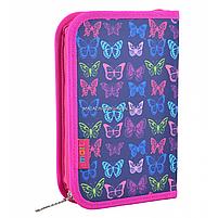 Пенал твердый Smart одинарный с клапаном Butterfly Smart фиолетовый (531669), фото 2