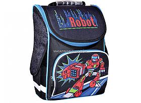 Рюкзак шкільний каркасний Smart Robot Чорний (553023)