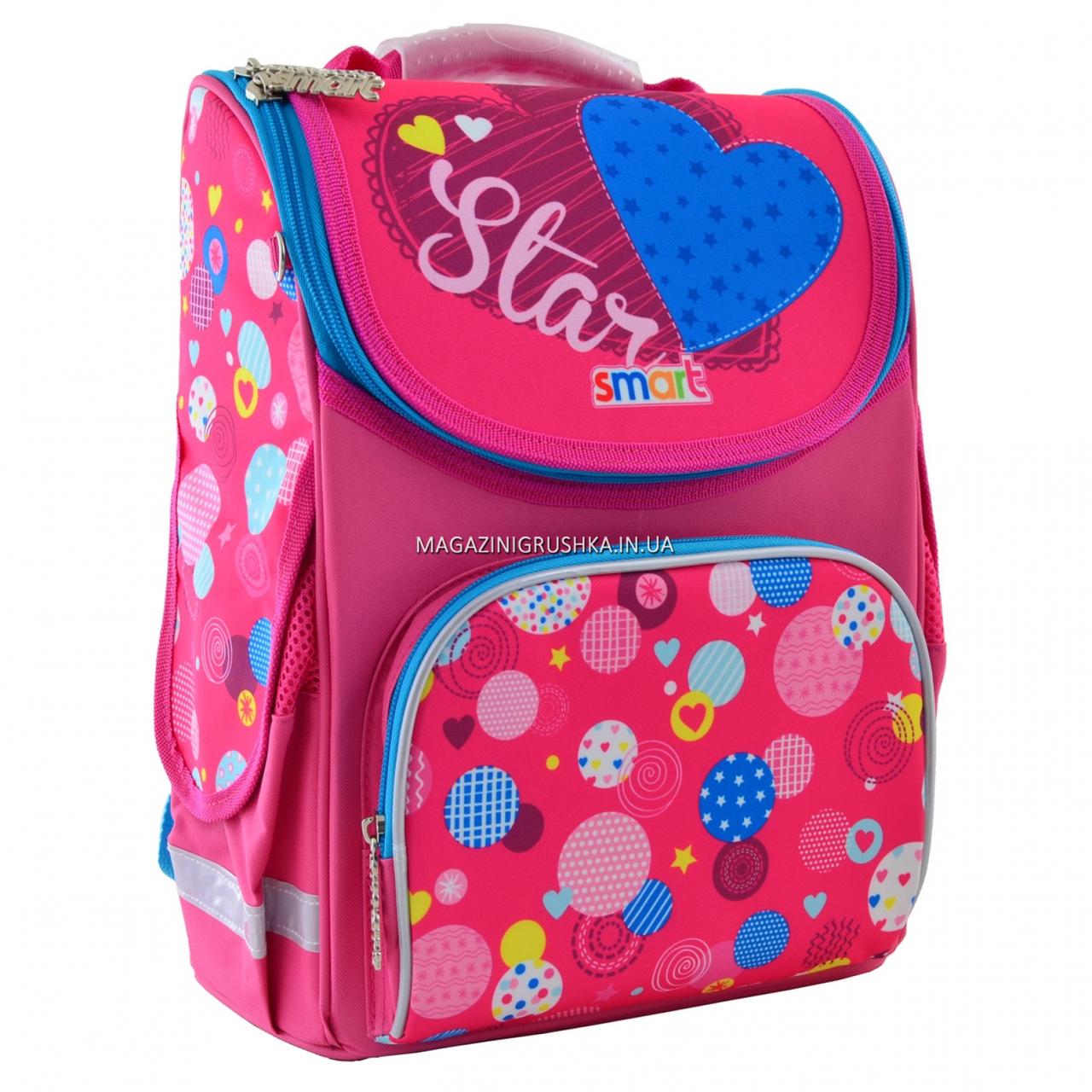 Рюкзак шкільний каркасний Smart Сolourful spots Рожевий (555900)