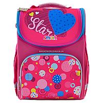 Рюкзак шкільний каркасний Smart Сolourful spots Рожевий (555900), фото 3