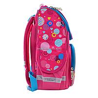 Рюкзак шкільний каркасний Smart Сolourful spots Рожевий (555900), фото 4