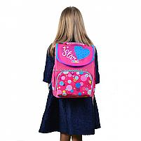 Рюкзак шкільний каркасний Smart Сolourful spots Рожевий (555900), фото 6