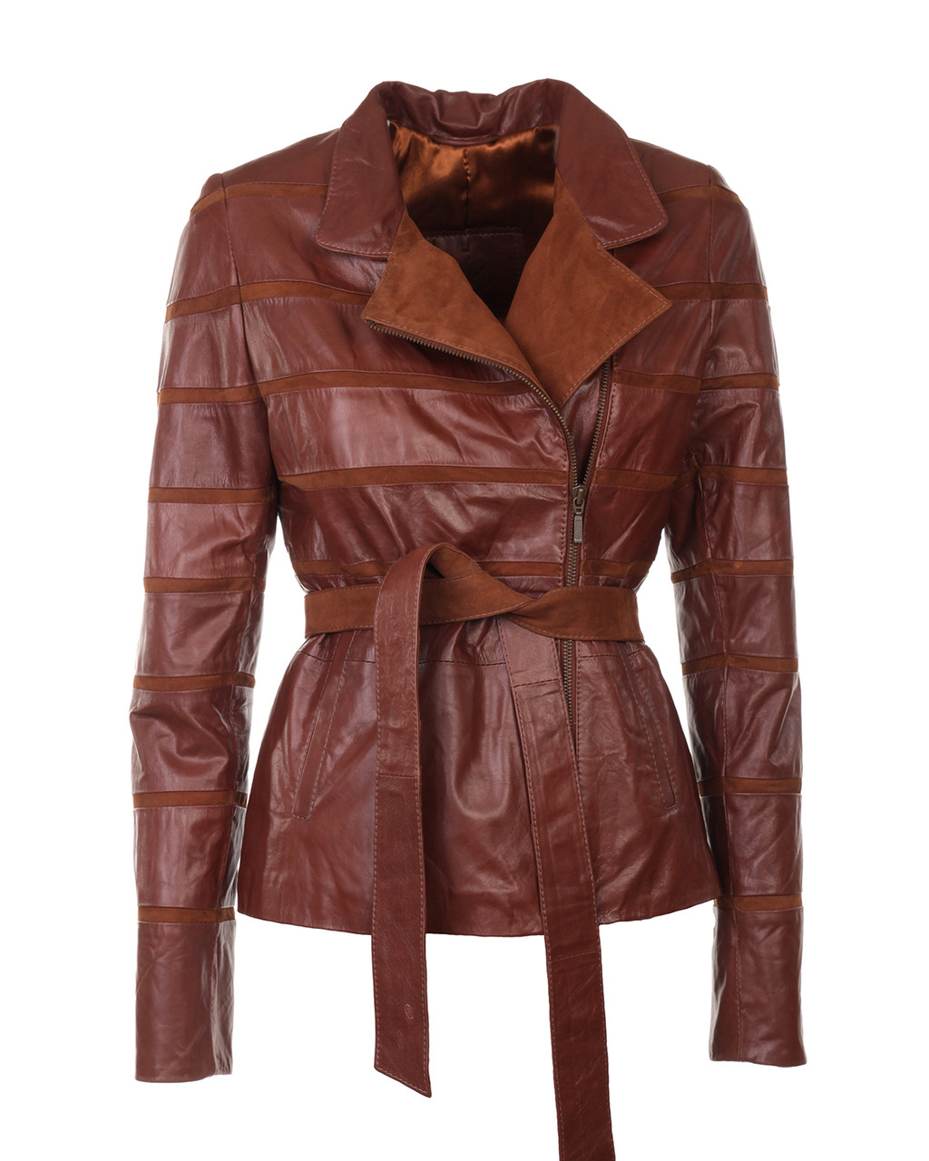 Руда замшева куртка коротка жіноча 44 розміру (Арт. RA-LAN211)