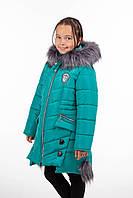 Зимний пуховик для девочек 34-40 волна