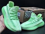 Мужские кроссовки Adidas Yeezy Boost 350 V2 в стиле изи буст зеленые (Реплика ААА+), фото 2