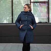 Куртки женские демисезонные больших размеров 50-60 синий