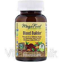 Строитель крови, Blood Builder, MegaFood, 30 таблеток