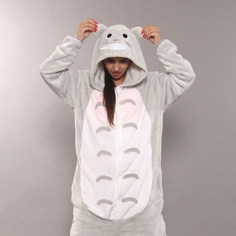 Кигуруми - Кот Тоторо - Одежда для дома - Пижама женская, пижама теплая Premium Velsoft
