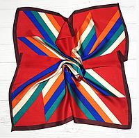 Шелковый платок Fashion Аврора 70*70 см красный