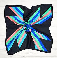 Шелковый платок Fashion Аврора 70*70 см черный