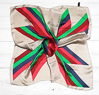 Шелковый платок Fashion Аврора 70*70 см бежевый