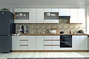 """Сучасна модульна кухня """"Софт"""" від Сокме (дуб вотан, білий)"""