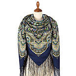 Жіноче щастя 1906-14, павлопосадский хустку (шаль) з ущільненої вовни з шовковою бахромою в'язаній, фото 6