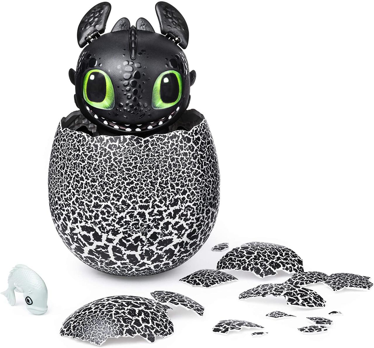 Интерактивный дракон Беззубик в яйце Как приручить дракона Dreamworks Dragons Hatching Toothless Dragon