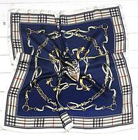Шелковый платок Fashion Оливия 70*70 см синий