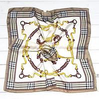 Шелковый платок Fashion Оливия 70*70 см молочный