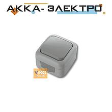 Вимикач 1-кл ViKO Palmiye 90555501 Сірий