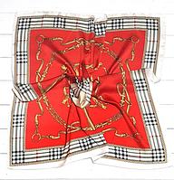 Шелковый платок Fashion Оливия 70*70 см красно-оранжевый