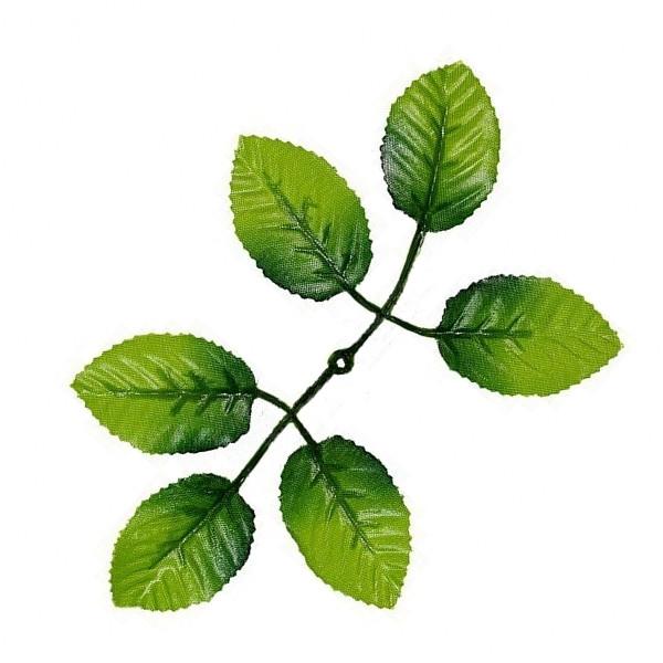 Лист розы 6-ка, 18 см (100 шт. в уп.)