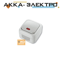 Вимикач 1-кл c підсвічуванням ViKO Palmiye 90555419 Білий