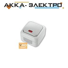 Выключатель 1-кл c подсветкой ViKO Palmiye 90555419 Белый