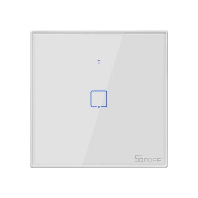 Sonoff T2 розумний сенсорний настінний wifi вимикач на 1 кнопку з дистанційним управлінням RF