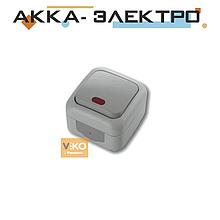 Выключатель 1-кл c подсветкой ViKO Palmiye 90555519 Серый