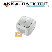 Вимикач 2-кл ViKO Palmiye 90555402 Білий