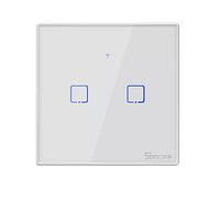 Sonoff T2 умный сенсорный настенный wifi выключатель на 2 кнопки с дистанционным управлением RF, фото 1