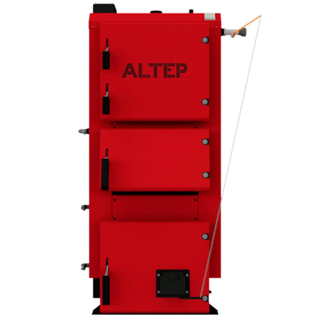 Котел твердотопливный длительного горения ALtep (Альтеп) Duo 38 кВт с механическим регулятором тяги