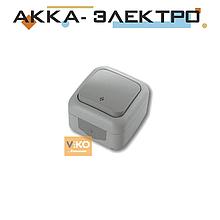 Вимикач 1-кл прохідний ViKO Palmiye 90555504 Сірий