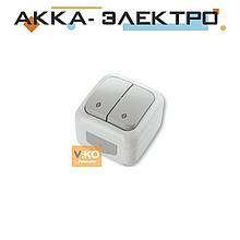 Вимикач 2-кл прохідний ViKO Palmiye 90555417 Білий