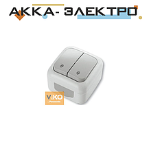 Выключатель 2-кл проходной ViKO Palmiye 90555417 Белый