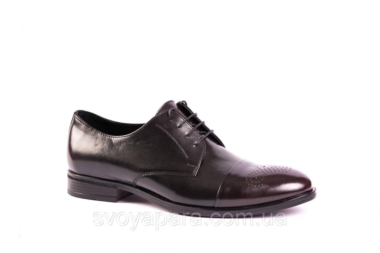 Туфлі дербі чорні ІКОС