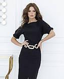 Черное классическое платье миди длины S, фото 2