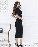 Черное классическое платье миди длины S, фото 3