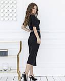 Черное классическое платье миди длины S, фото 4