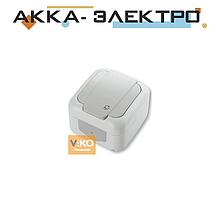 Розетка с заземлением ViKO Palmiye 90555408 Белый